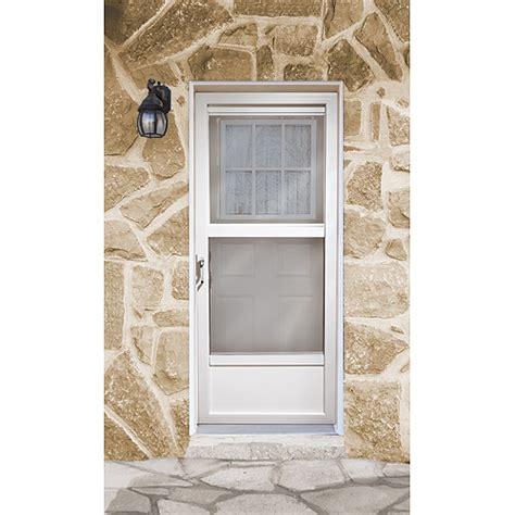 """""""northern"""" Aluminum Storm Door  Rona. Stanley Doors. Exterior Double Entry Doors. Awning Over Door. High End Garage Doors. Commercial Sliding Doors. Two Car Garage Packages. Reclaimed Wood Barn Doors. Garage Door Repair Pearland"""