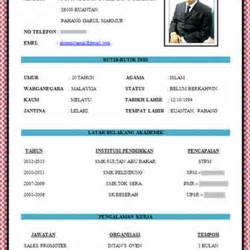 Template Resume Bahasa Melayu by Contoh Resume Bahasa Melayu Yang Baik Pic Contoh Resume