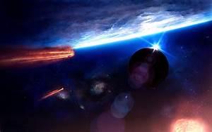cg digital-art paintings space universe comets asteroids ...