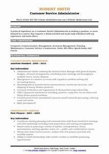 Warehouse Distribution Resume Customer Service Administrator Resume Samples Qwikresume