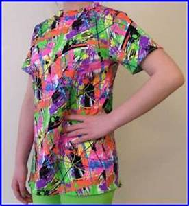 NEON SPLATTER rashguard for JUNIORS