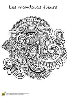 Hand-Drawn Abstract Henna Mehndi Flowers and Paisley