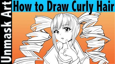 draw curly hair anime tutorial youtube
