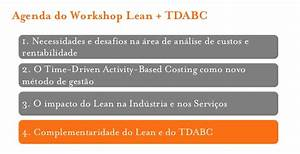 Workshop Lean + Time Driven Activity Based Costing
