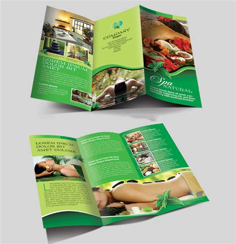Free Spa Brochure Templates by 16 Amazing Spa Brochure Template Designs Free
