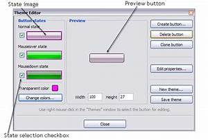 Create buttons in theme editor