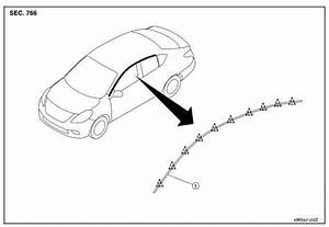 Nissan Sentra Service Manual  Drip Molding - Removal And Installation - Exterior