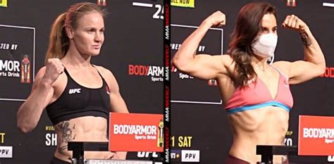 UFC 255 weigh-ins: Valentina Shevchenko and Jennifer Maia ...