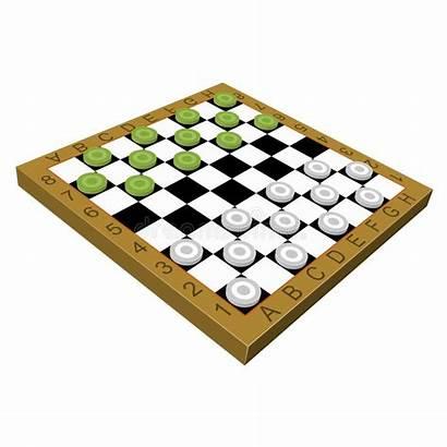 Checkers Het Houten Raad Clipart Gioco Controllori