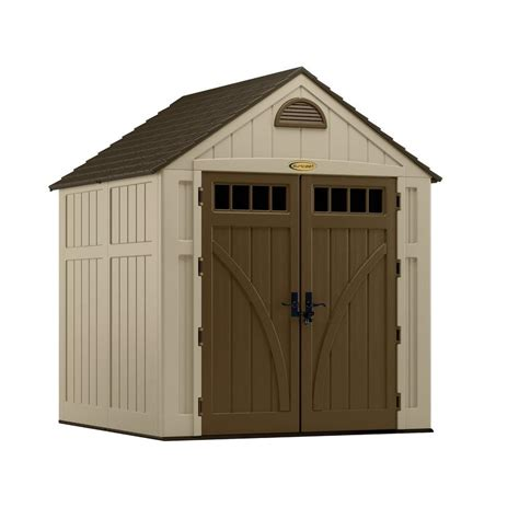 suncast storage sheds home depot suncast brookland 7 ft 6 in x 7 ft 2 in resin storage