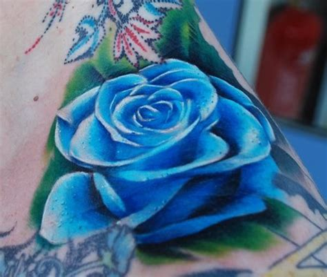 Realistic Blue Rose Tattoo  Cool Tattoos Continues