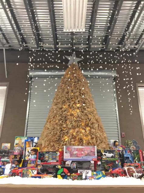 cardboard christmas tree ameritex    box