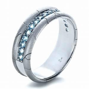 men39s custom ring with aquamarine 1203 bellevue seattle With mens aquamarine wedding ring