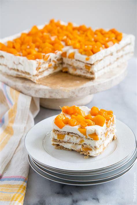 mango royale filipino icebox cake   epicurean