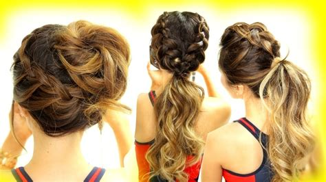 3 ★ Cutest Workout Hairstyles! Braid School Hairstyles For