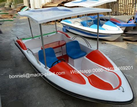 Battery Powered Boat by Battery Powered Pedal Boat Fiberglass Electric