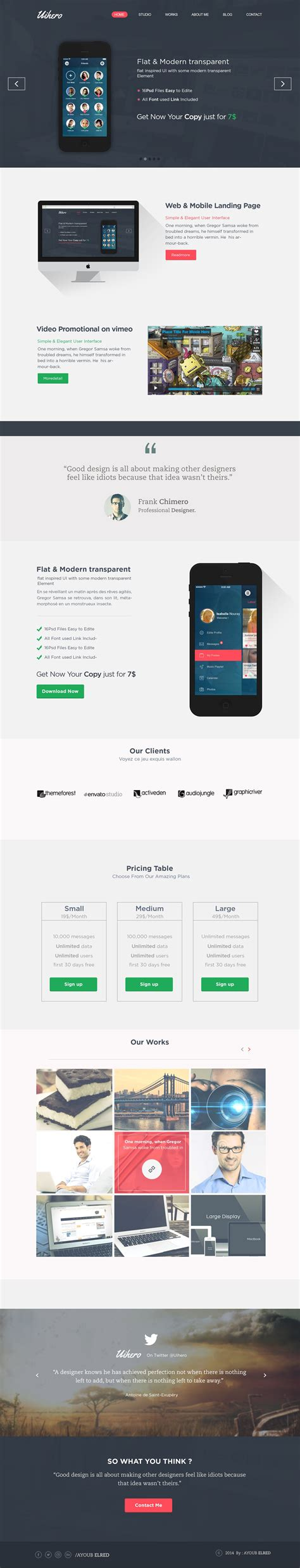 one page website template free 35 free single page website template psd creativecrunk