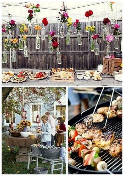 top  rustic barbecue bbq wedding ideas deer pearl flowers