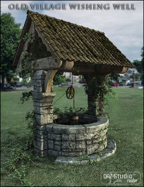 Old Village Wishing Well   3D Models and 3D Software by Daz 3D