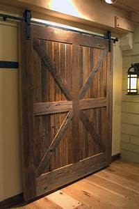 ideas of how to introduce barn doors in a modern home With barn door patterns