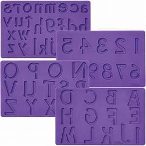 wilton letters numbers alphabet fondant gum paste molds With wilton letters