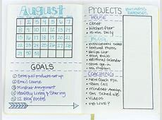 Plan with me August Bullet Journal setup Sublime Reflection