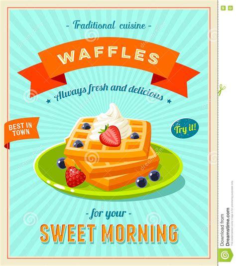 affiche cuisine vintage vintage breakfast poster vector illustration