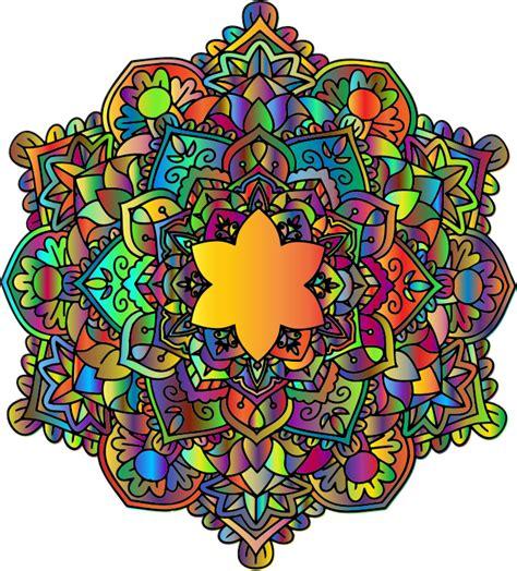 Mandala Images Clipart Flowery Mandala Prismatic