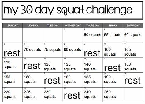 Schedule Squatting In March 30 Day Standing Challenge Part Solo
