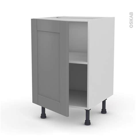 meuble de cuisine gris meuble de cuisine bas filipen gris 1 porte l50 x h70 x p58
