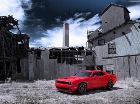 Dodge Challenger Srt Hellcat Wallpaper Red Muscle
