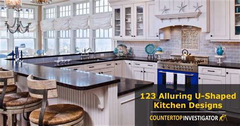 one wall kitchen layout with island 123 breathtaking u shaped kitchen designs