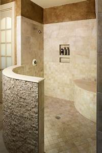 walk in shower for the basement entry rinse off before With walk in shower no door