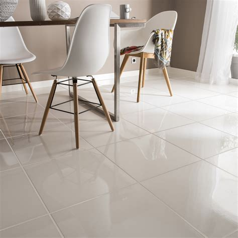 carrelage blanc brillant sol carrelage sol et mur blanc effet uni siberie l 45 x l 45 cm leroy merlin