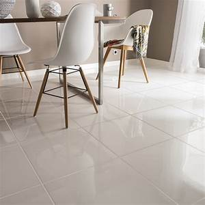 Carrelage Blanc Sol : carrelage sol et mur blanc effet uni siberie x cm leroy merlin ~ Dode.kayakingforconservation.com Idées de Décoration