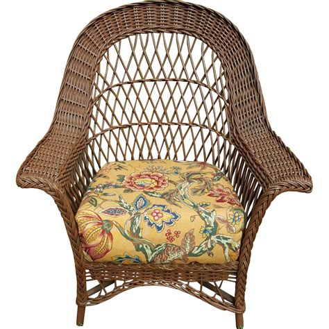 vintage bar harbor wicker chair circa 1920 s from dovetail