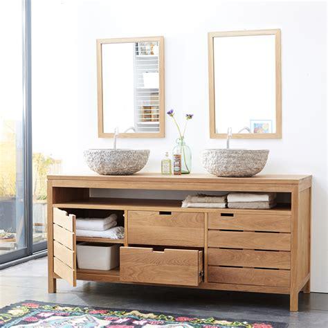 plateau pour canap meuble sous vasque en chne massif pour salle de bain