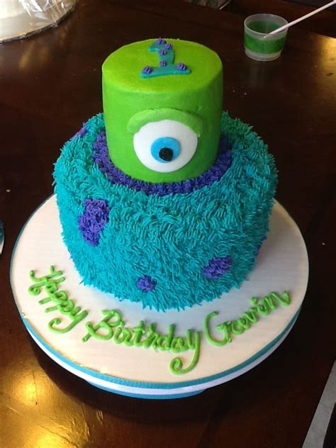monsters inc cake monsters inc cake for 1st bday cakes i made