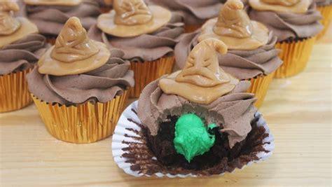 sorting hat cupcakes recipe tastemade