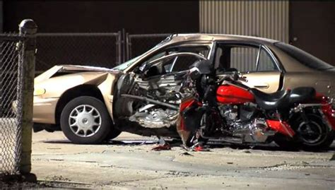Motorcycle Stuck In Car After Fatal Crash In Cleveland
