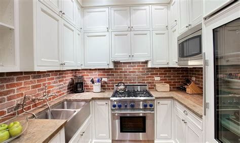 brick kitchen backsplash brick backsplash home design