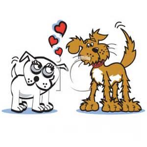 Free Valentine Day Dogs Clip Art