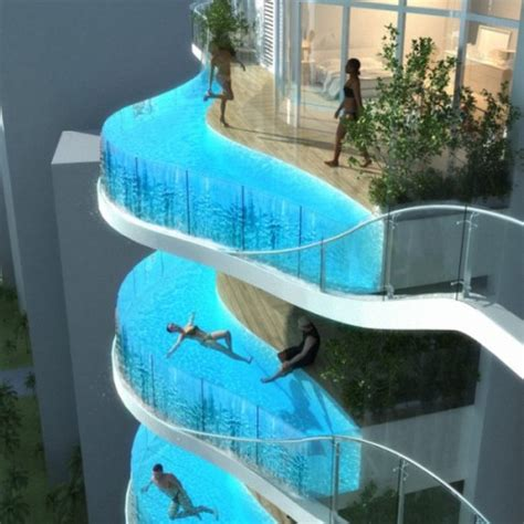 balcony pools hanging in the air neatorama