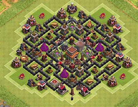 12 best th8 farming base 2018 new anti 8 best coc town th8 defense bases 2017 bomb tower 12 b