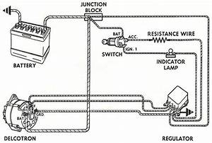 Wiring Instructions For The Early Gm Delco Remy External Regulated Alternator U2026