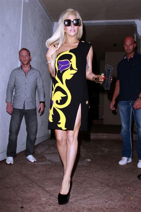 lady gaga print dress lady gaga  stylebistro