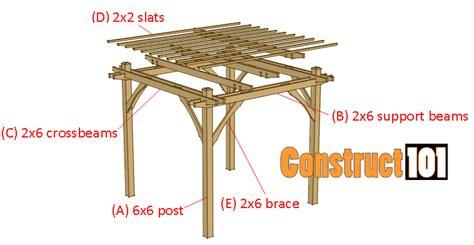 materials needed to build a pergola 10x10 pergola plans pdf construct101