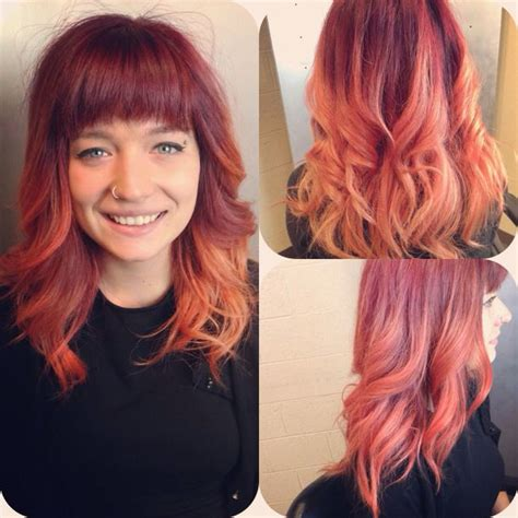 Darker Winter Peach Ombré From Aveda Color Hair By