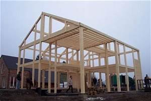 la structure portante ma maison quotpassivequot c39est du bois With maison bois et paille 4 poteaux poutres et paille