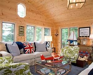 Decorating, Ideas, For, Knotty, Pine, Living, Room, U2013, Modern, House